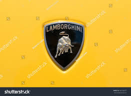 lamborghini symbol turin italy june 10 2017 lamborghini stock photo 702105577