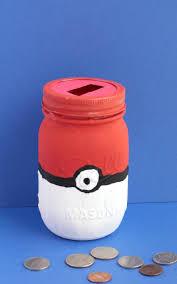 how to make a pokeball mason jar piggy bank