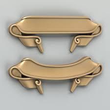 3d model modern decorative ribbon cgtrader