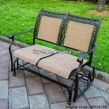 2 seater cast aluminum rocking chair loveseat glider bench in