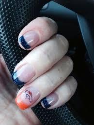 denver broncos nail design beauty bar inc