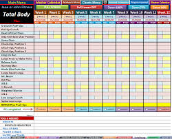 p90x plus excel workout tools