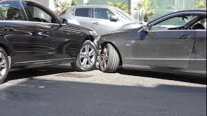accident on the road two cars crash stock video footage