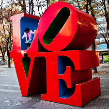 Indiana travel words images 3d four letter words robert indiana 39 s love sculptures urbanist jpg