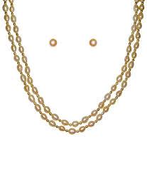 white pearl necklace designs images Classique designer jewellery oval shaped white pearl necklace set jpg