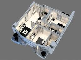 3d model floor plan 3d model of detailed interior apartment 3d model youtube