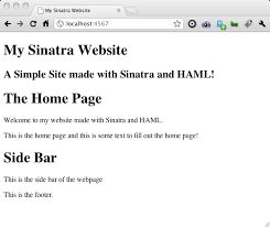 an introduction to haml and sinatra