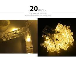 warm white light led 20pc clip light string warm white lights