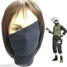 Kakashi Halloween Costume Anime Naruto Konoha Hatake Kakashi Cosplay Face Mask Chiffon Bike