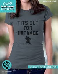 Tits Meme - new tits out for harambe shirt gorilla meme funny shirt cotton