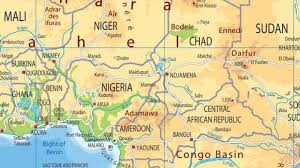 nigeria physical map africa physical map tiger moon