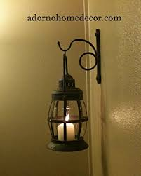Shabby Chic Wall Sconces Amazon Com Metal Lantern Wall Sconce Rustic Industrial Antique