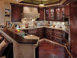 cherry cabinet kitchen designs phenomenal dark cabinets and floors