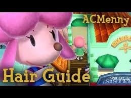 acnl hairstyle guide animal crossing new leaf hair guide hair colors youtube