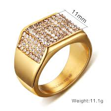 man rings design images Titanium steel gold color western style bling ring for men great jpg