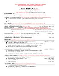 Resume Sample With Summary by Download Utsa Resume Template Haadyaooverbayresort Com