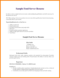 restaurant resume examples resume objective server resume cv cover letter resume objective server marvelous design ideas server resume samples 7 server resume samples sample of server