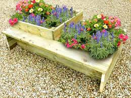 raised flower beds timber planters for growing flowers