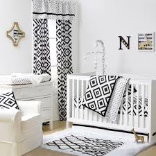 White Nursery Bedding Sets Deco Crib Starter Set In Black White