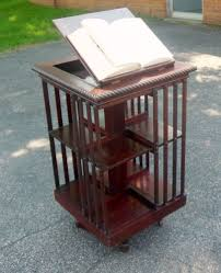 decorating antique danner mahogany revolving bookcase lectern