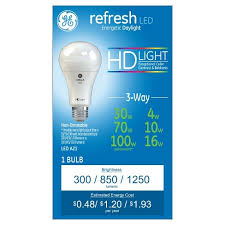 ge hd light refresh refresh daylight hd 30 70 100watt equivalent 3way led target