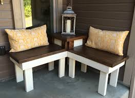 Outdoor End Table Plans Free by Remodelaholic Build A Corner Bench With Built In Table