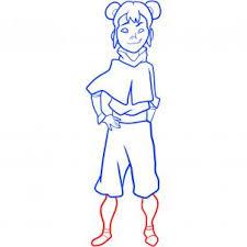 how to draw ikki ikki legend of korra step by step nickelodeon