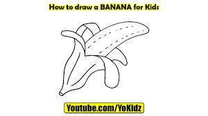 how to draw a banana for kids youtube