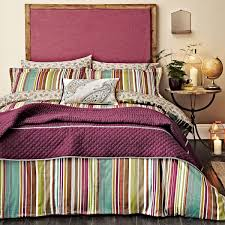 luxury striped bedding ila cotton sateen bed linen at bedeck 1951