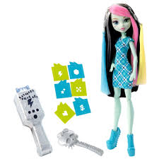 Monster High Halloween Doll by Monster High Voltageous Hair Frankie Stein Doll Walmart Com