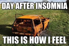 Insomniac Meme - day after insomnia this is how i feel insomnia quickmeme