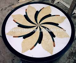 modern marble waterjet flooring design shape marble inlay