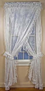 Priscilla Curtains With Attached Valance Ruffled Priscilla Curtains Country Ruffled Curtains Window Toppers