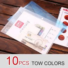 fermeture bureau en gros 10 pcs transparent en plastique fermeture dossier documents sac a4