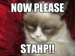 Stahp Meme - now please stahp are you kidding grumpy cat quickmeme