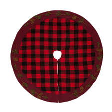 glitzhome 46 5 in d plaid tree skirt 1103004386 the