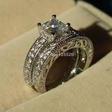 Engagement Wedding Ring Sets by 001 Victoria Wieck Nice Design Antique Jewelry Simulated Diamond