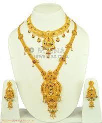 indian bridal necklace sets images 22k antique bridal necklace set stbr11094 22k antique gold jpg
