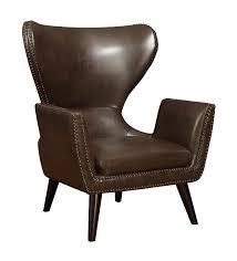 brown accent chair w nailhead trim coaster 902089