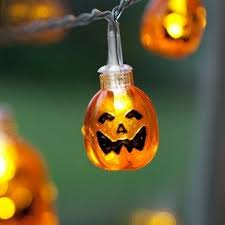 qpey battery operated led fairy string lights 3d pumpkin 10 leds