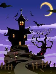 halloween background vector cartoon halloween castle background vector material cartoon