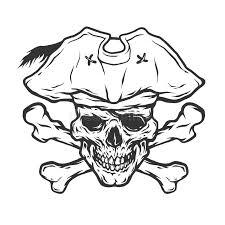 pirate skull and crossbones stock vector illustration of