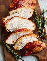 roasted marinated turkey breast i food