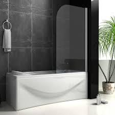 glass bath screen pivot shower screen aica bathrooms ltd pivot chrome 180 bath screen panel 800 x 1400 mm