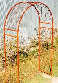 iron garden trellis arch home outdoor decoration
