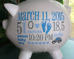 personalized baby piggy banks personalized piggy bank elephant theme baby boy piggy