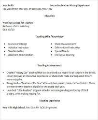 26 best teacher resumes free u0026 premium templates