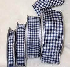 blue gingham ribbon 3800 104 gingham ribbon navy white imported farmhouse fabrics