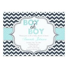 boy oh boy chic chevron baby boy baby shower invitations