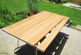 replace glass patio table top with wood attractive patio table top ideas garden decors
